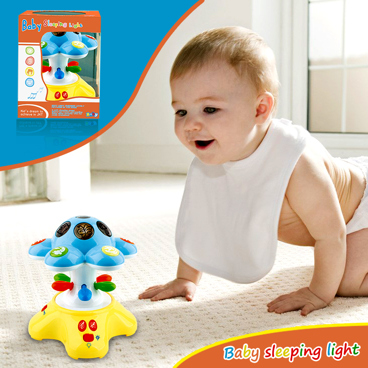 Electric Toy Baby Sleeping Light With Projection For Kid's Good Dream