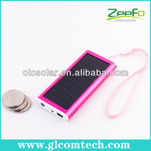 Smart power charger for cell phone with solar panel