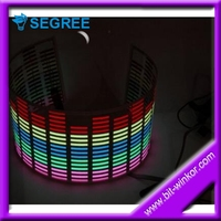 Colorful flashing led Car Sticker music rhythm lamp Sound actived equalizer el car sticker for New Year