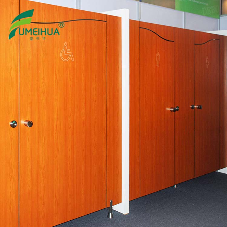 Hot sale hpl waterproof wood grain compact toilet partition