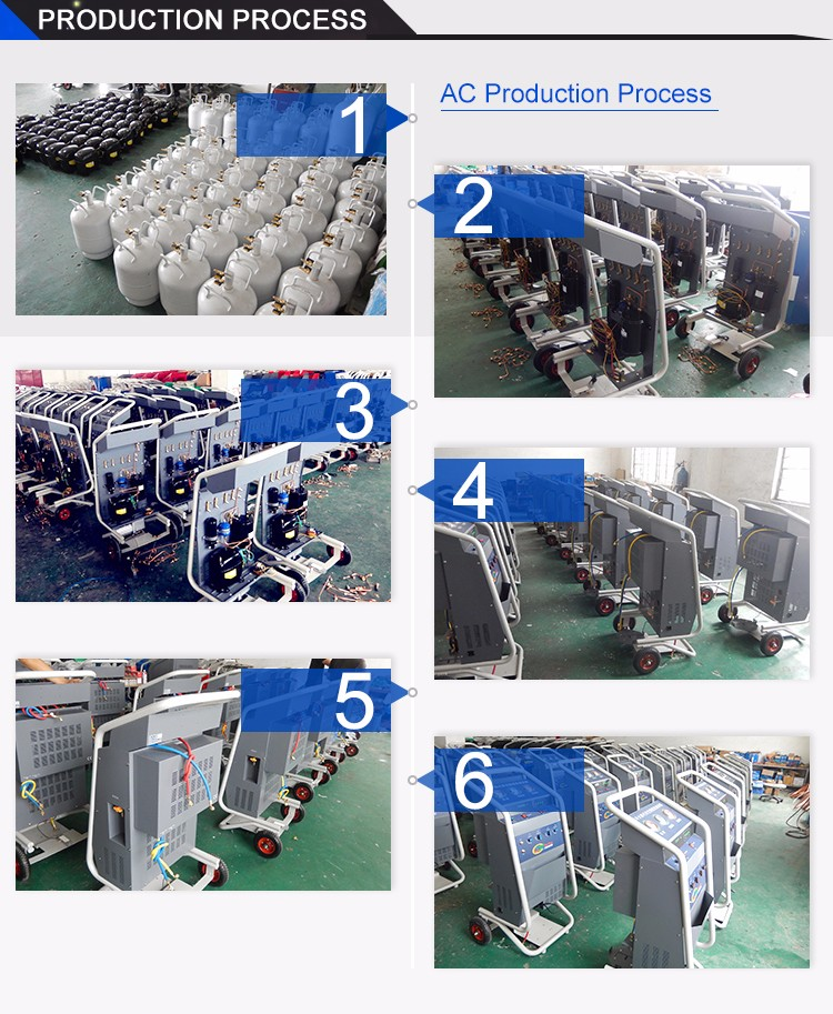 HO-L800 A/C refrigerant recovery and filling machine