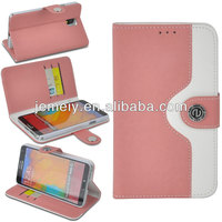 pink wallet leather case for samsung galaxy note 3 in stock
