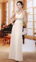 2015 Long Chiffon Bridesmaid Formal Gown Ball Party Cocktail Evening Prom Dress in fashion