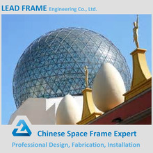 Steel frame structure roofing for glass dome