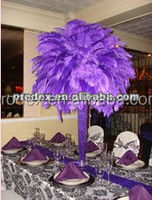 Purple Ostrich feather 14-16 inch for wedding centerpiece