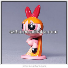 Custom logo cartoon character figures/3 inch mini plastic toy kids dolls/oem small plastic toy figures baby dolls