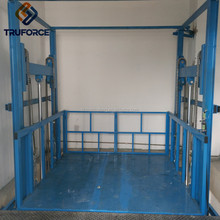 CE-certified Electric Hydraulic Warehouse Cargo Lift Guide Rail Lift for container warehouse