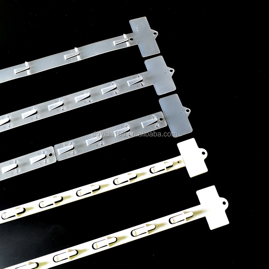 PP display plastic Clip strips Injection molded moulded clip strips