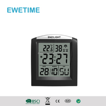 YD8221C LCD Digital Clock With Temperature And Double Alarm/Snooze