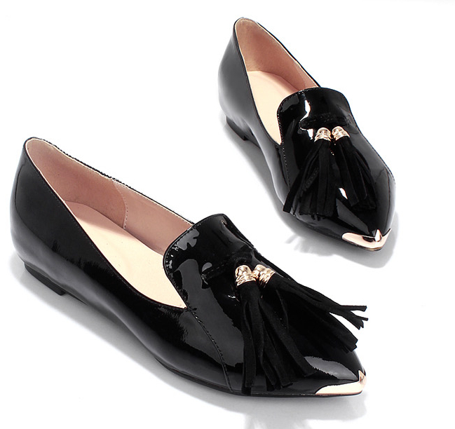 Hot selling big size range lady flats 2014 PU UK shoes 2014 women shoes with low price