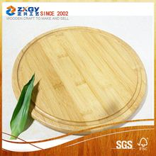 selling well in Alibaba2017 Bamboo wooden circle shape tray