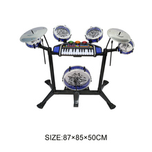 Electronic kids drum set musical instrument with organ keyboard