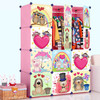 wall mounted portable plastic cabinet design cartoon baby almirah FH-AL0041-12