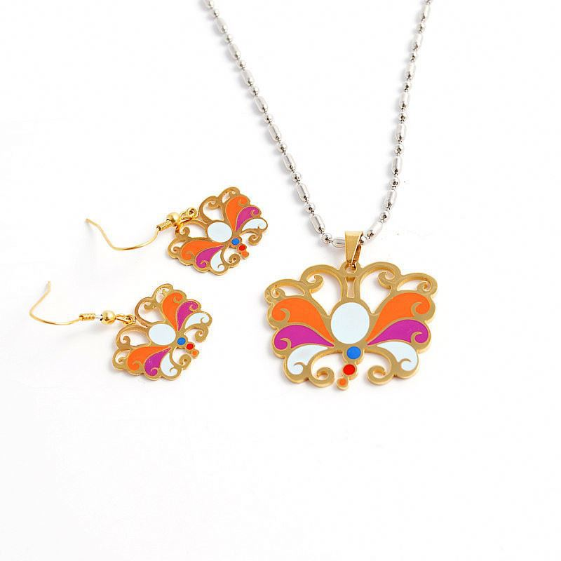 Jewelry for sale,hermosa enamel butterfly gold plated cebu jewelry set