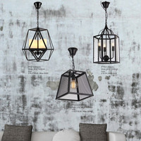 Iron Cages Pendant Light for House Decoration Vintage European Style Chandelier