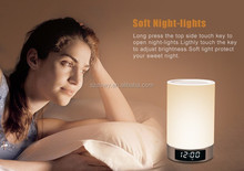 Night Light Portable Table Lamp Clock Wireless L5 Bluetooth Speaker with Touch Control