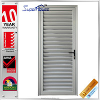 Durable Aluminium aluminium vented exterior door for interior