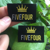 Satin damask woven labels for clothing