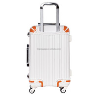 Light carry easy portable cute colorful environmental luggage trolley bags with korea luggage bag with abs material