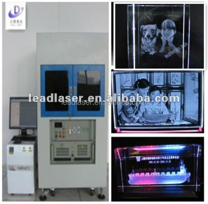 Synthesized Technical 2 Laser Heads 3D Image Inside Crystal Laser Engraving Machine