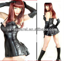 sexy photos latex rubber body suits fetish for sexy tight short dress gothic g-string adult patent leather with glove