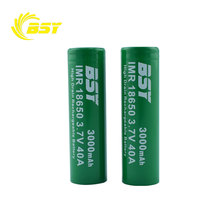 Good quality 18650 vv box mod battery BSY 18650 40a battery BSY IMR 18650 3000mah high drain li-ion battery
