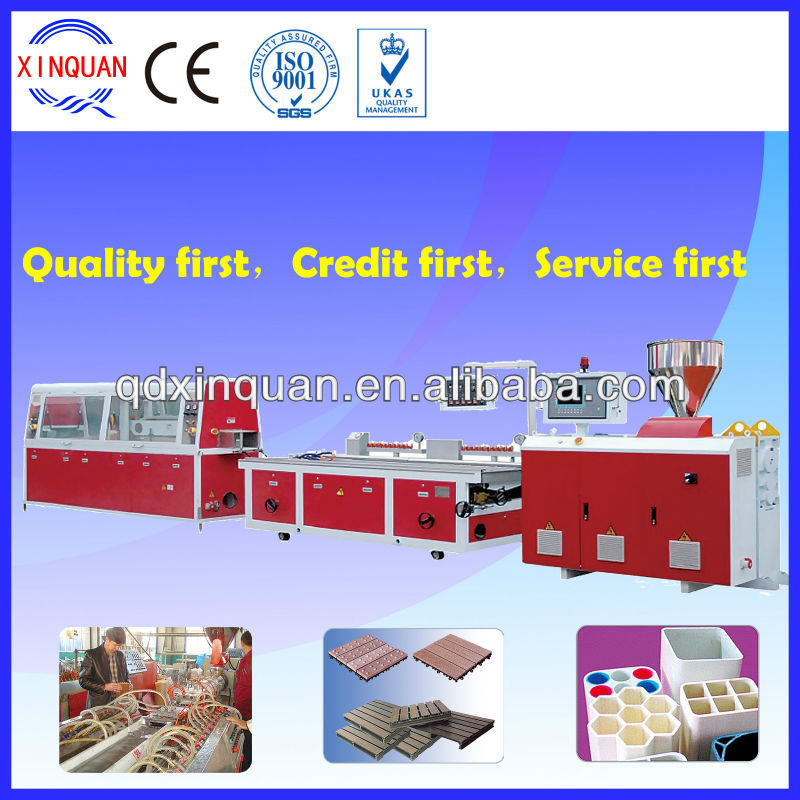 PVC PE wood plastic composite profile extrusion machine