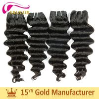 Factory perfect black lady 100% virgin remy hair crochet human hair wave hair extension