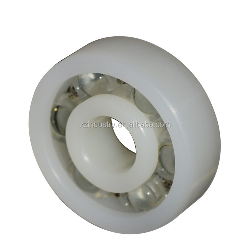 Plastic pe6301 ball bearing with glass ball