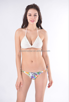 2016 Summer New design sexy white crochet bikini