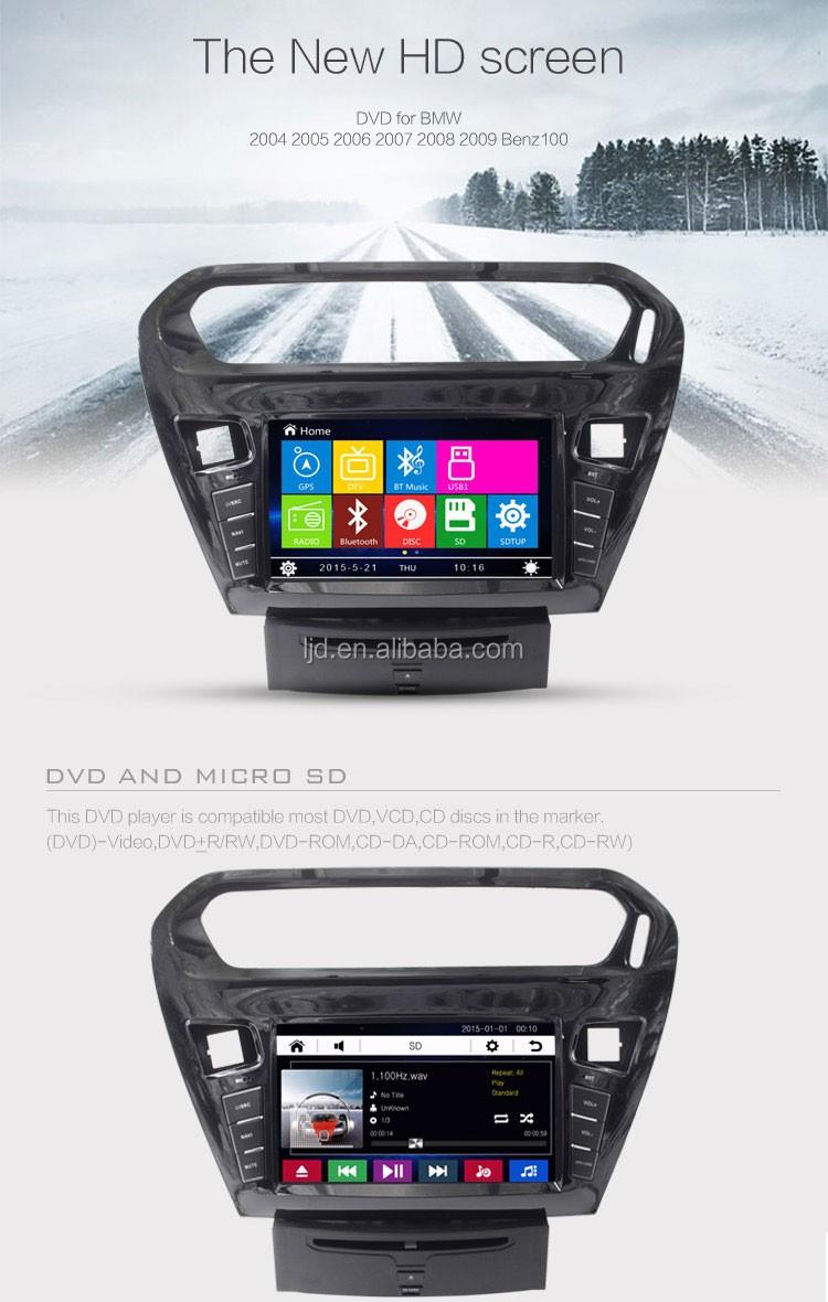 Car Dvd Player Gps Navigation Car Audio For Peugeot 301 Car Audio ...