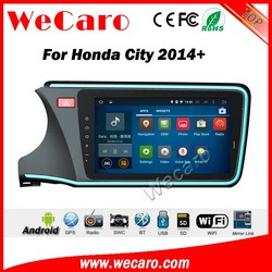 Wecaro android car audio system for honda city 2014 2015 2016 With Wifi and 3G GPS