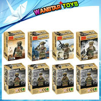 Wholesale Building Blocks Sets SWAT Minifigures Riot Police Special Forces Marine Corps Figures Bricks Children Toys