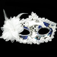 PVC-058 Yiwu Caddy Hot sell princess masquerade handmade cheap feather masquerade masks buy cheap, party pvc mask