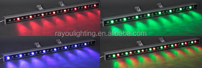 Single color 36x1w led wall washer, IP65 led wall washer 100cm, led wall washer purple for architecture decoration