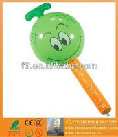 fragrant apple-shaped pvc inflatable air hammer toys