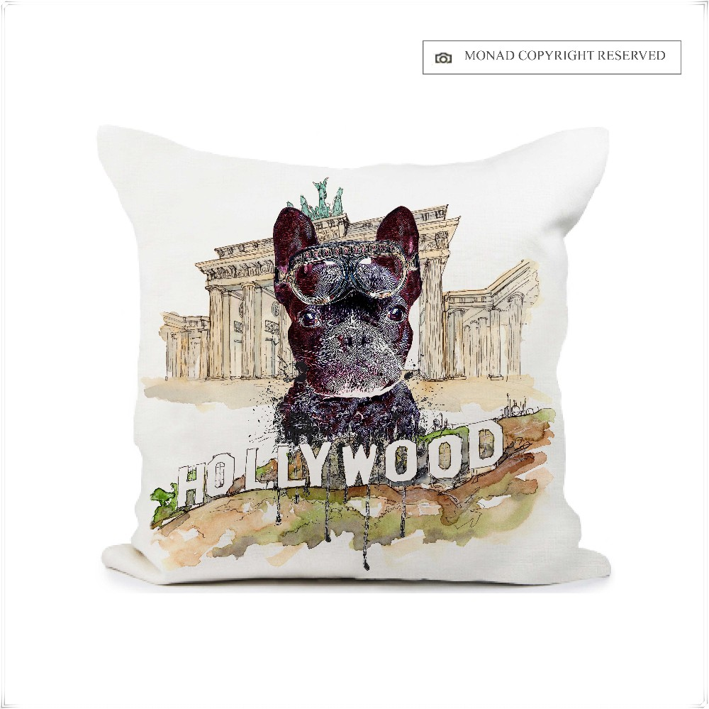 Wholesale Adult Children Custom Designs Animals Dog Digital Printing Car Seat Cushion Cover