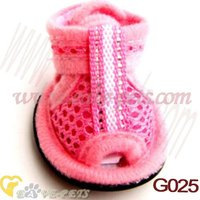 G025 Small Pet Dogs Puppy Shoes Summer Velcro Closure Mesh Breathable Sandals Boots Drop Shipping