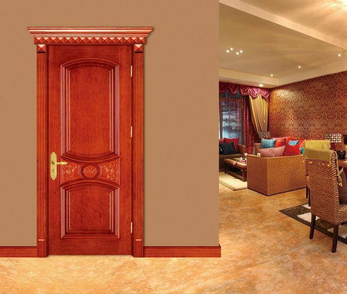 Popular design hollow core mdf veneer wooden flush door for Puertas decorativas para interiores