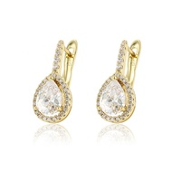 97011 xuping antique diamond earrings 14k gold wedding earrings for ladies