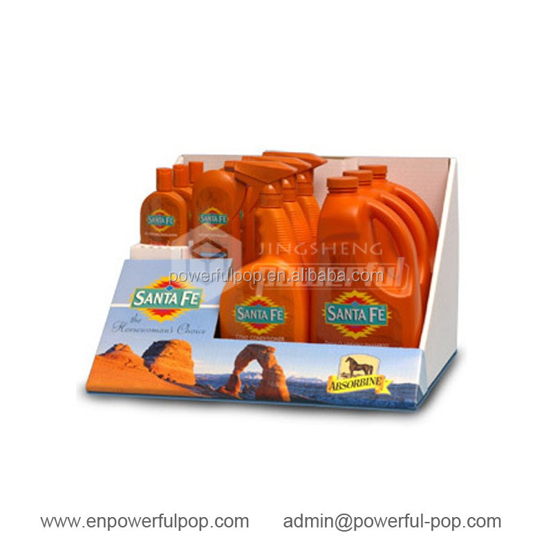 Household Cleaning Products Counter Top PDQ Cardboard Display Counter