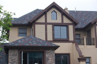 Customizable 3 Tab Fireproofing Asphalt Shingles , Recycled Roof Tiles