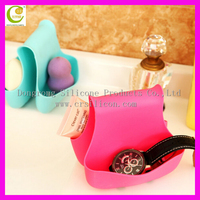 Silicone wall mounted bathroom gadget storage box,Bathroom accessories