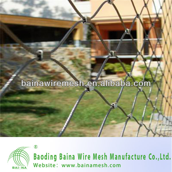 alibaba china supplier stainless steel wire rope net/security wire mesh/stainless steel balcony railing