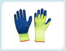 CE certificate black foam latex safety work garden latex coated cheap gloves