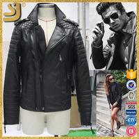 SHANGYI soft thin leather jacket, varsity lady quilted sleeves leather jacket, real leather jacket