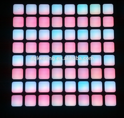 square or round dots 8x8 rgb led dot matrix module with 7.62mm pitch