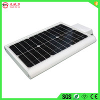 new design 12w solar power led street light with 12v14ah high temperature battery