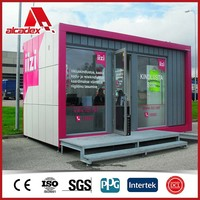 aluminium composite panel for Outdoor fast food kiosk Container coffee shop design