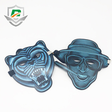 2018 hot selling new products Halloween Christmas festival party EL wire light up glowing LED scary mask for fun